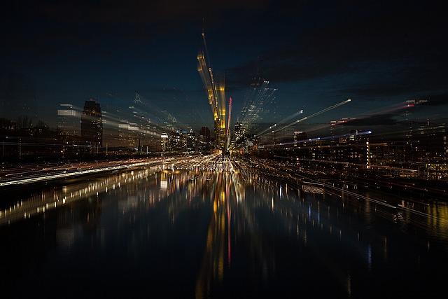 Frankfurt, City, Architecture, Skyline, River, Facade