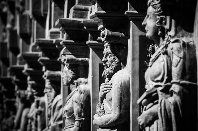 Renaissance, Statues, Schallaburg, Figures, Facade