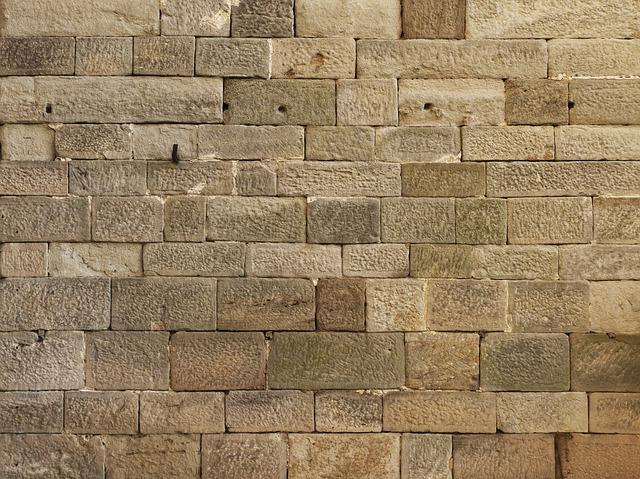 Wall, Sandstone Wall, Facade, Historically, Texture