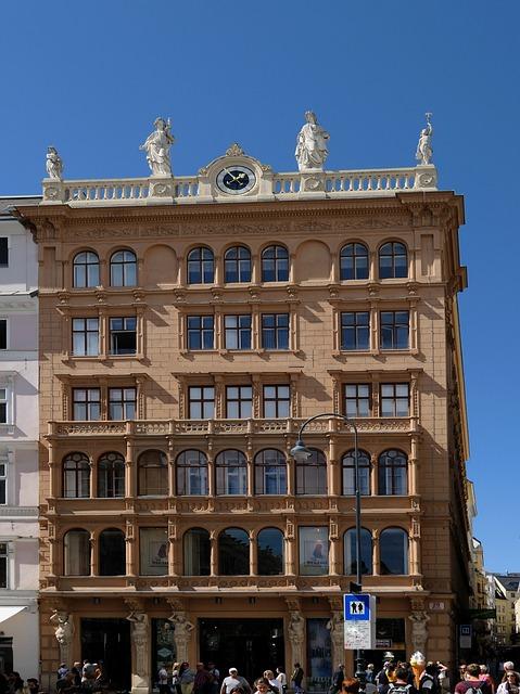 House, Facade, Window, Vienna, City, Capital
