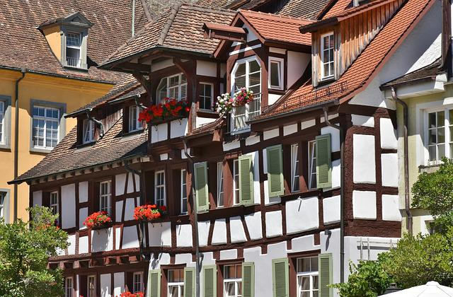 Meersburg, Lake Constance, Homes, Facades, Truss