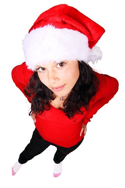 Celebration, Christmas, Claus, Decoration, Face, Female