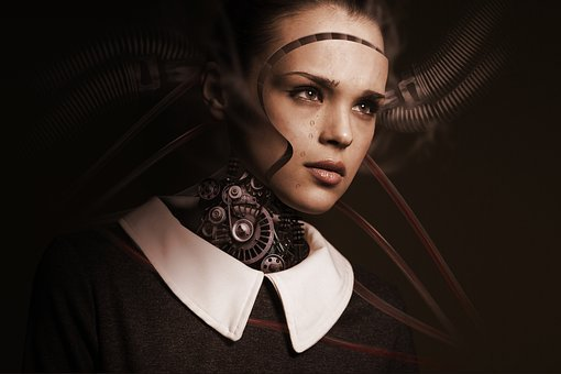 Robot, Woman, Face, Cry, Sad, Artificial Intelligence