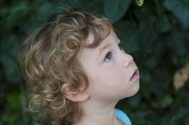 Face, Little Girl, Curls, Thoughtfully, Hair, Cheek