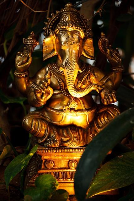 Asian, Decoration, Elephant, Face, Figure, Ganesha, God