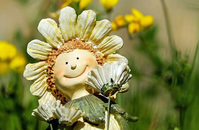 Figure, Child, Flower Child, Face, Funny, Deco
