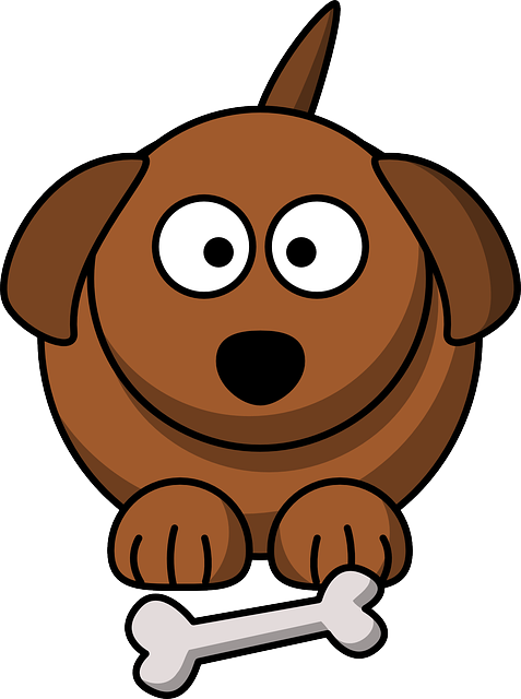 Dog, Bone, Brown, Face, Cute, Fat, Puppy, Pet, Friend