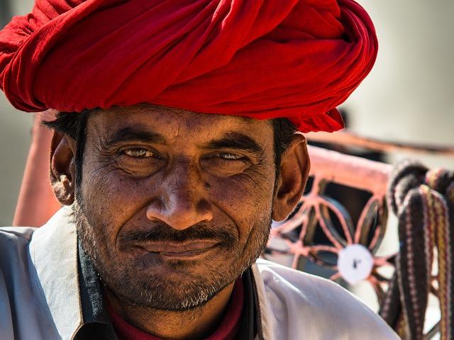 Indian, Turban, Man, Portrait, Head, Face, Hindu