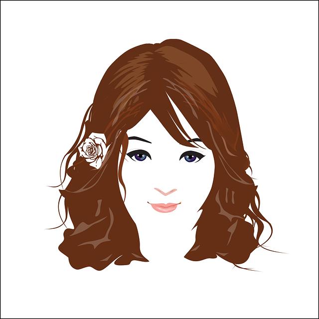 Beautiful, Face, Women, Logo, Icon, Portrait, Model