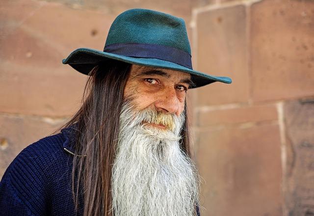 Human, Man, Face, View, Bart, Hat, Portrait, Magician