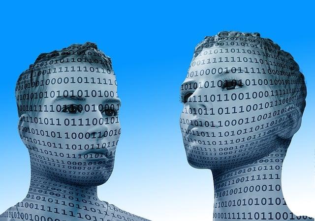Binary, Code, Man, Display Dummy, Face, View