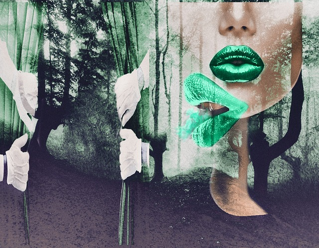 Forest, Double Ex Pore, Kiss, Face, Lips, Nature