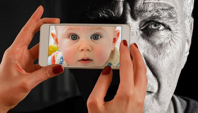 Smartphone, Face, Man, Old, Baby, Young, Child, Youth