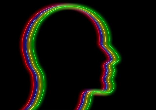 Face, Outline, Profile, Neon, Neon Light, Head