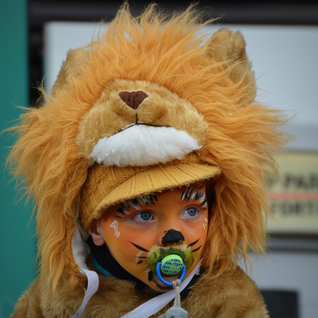 Child, Carnival, Dress Up, Face Paint, Cute, Lion