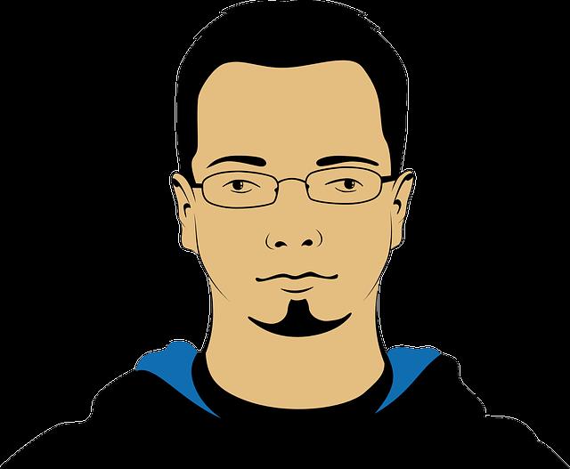 Man, Person, Avatar, Face, Head, Portrait, Glasses