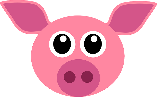 Pig, Pink, Cute, Animal, Face, Funny, Head, Mammal
