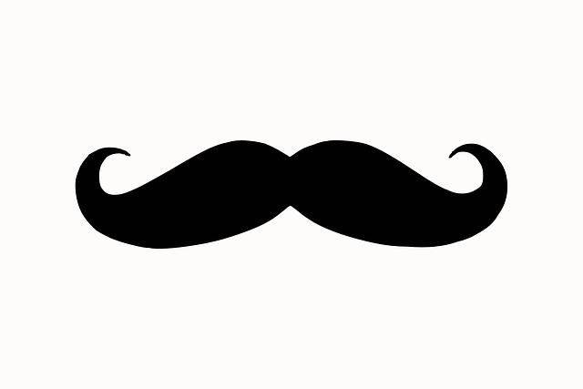 Moustache, Silhouette, Face, Hair, Facial, Beard, Retro