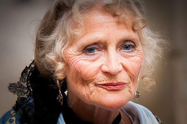 Portrait, Elderly Person, Old, Wrinkled, Face, Woman