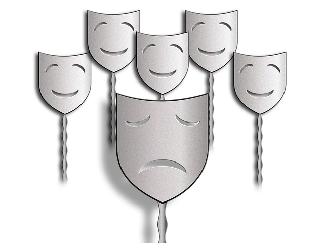 Masks, Faces, Mourning, Joy, Bullying, Exclusion, Alone