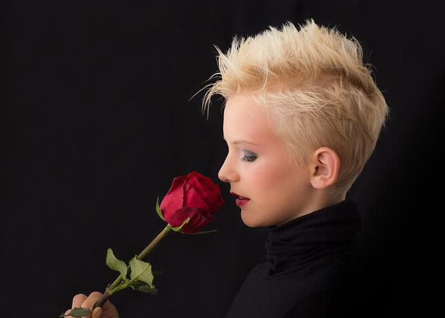 Profile, Girl, Rose, Young Girl, Blonde, Lady, Facial