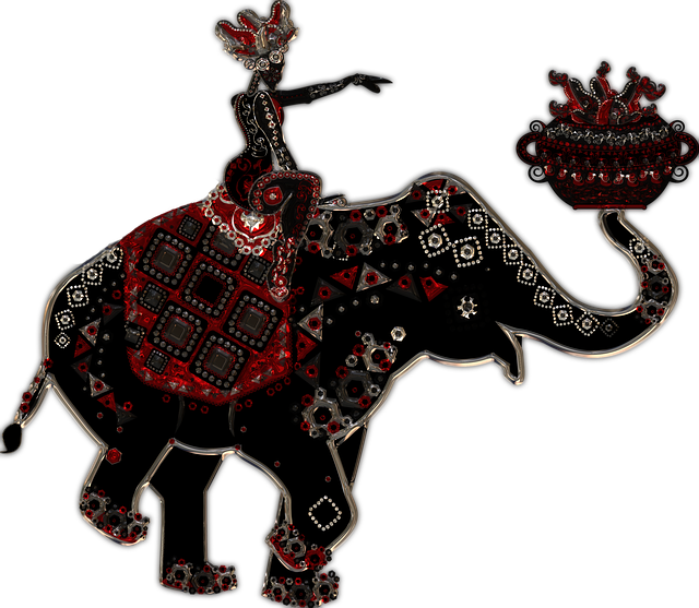 Elephant, Woman, Metallizer, Art, Glass, Factory