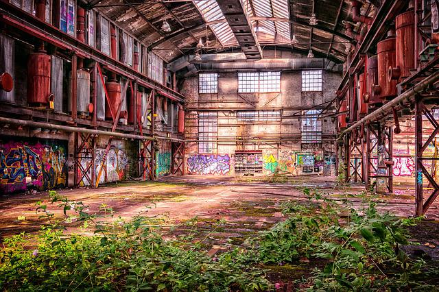 Lost Place, Factory, Factory Building, Atmosphere