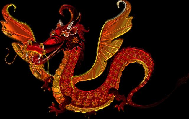 Dragon, Metallizer, Art, Glass, Factory