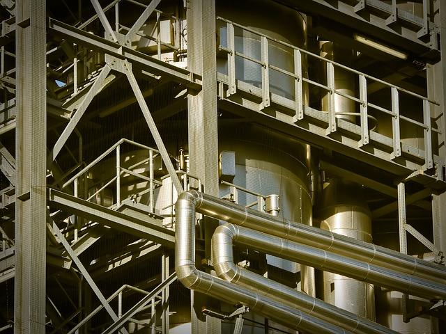 Industry, Factory, Industrial Plant, Metal