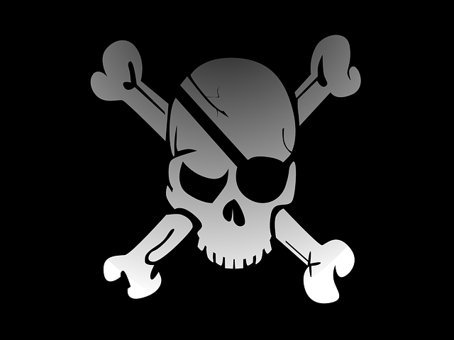 Skull, Crossbones, Pirate, Flag, Fade, Eye Patch