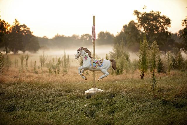 Princess, Horse, Carousel, Carousel Horse, Fair