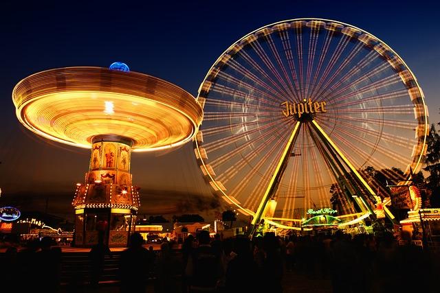 Fair, Fairground, Ferris Wheel, Carousel