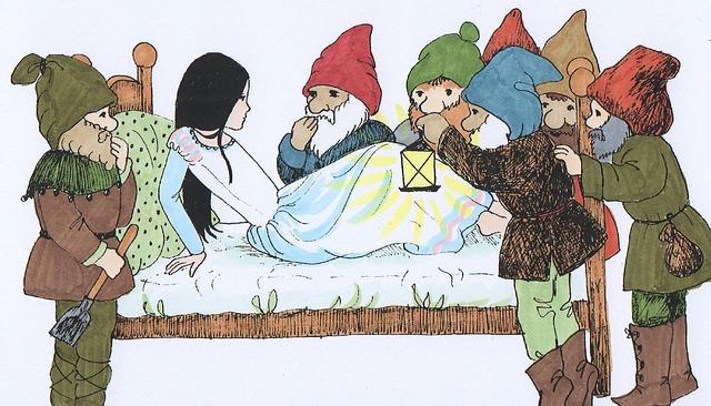 Snow White, Fairy Tales, Awakening, Dwarfs, Princess
