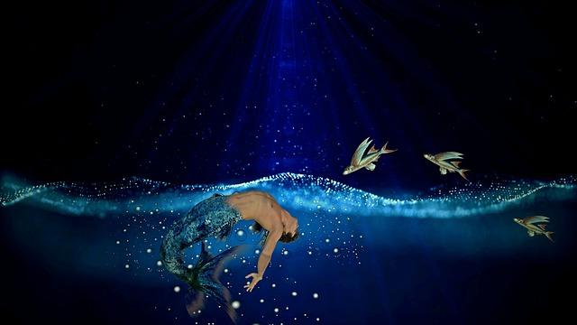 Mermaid, Sea, Water, Fish, Fantasy, Fairy Tales, Wave
