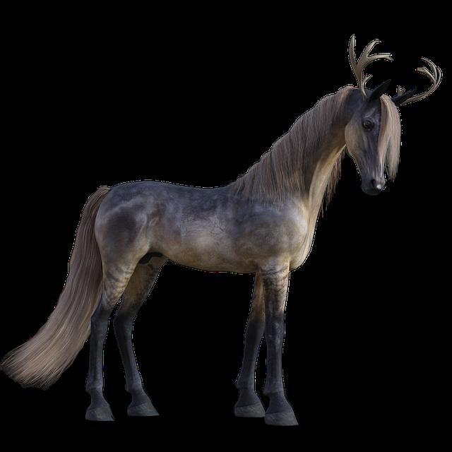 Horse, Unicorn, Fantasy, Antler, Fairy Tales