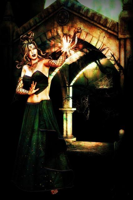 Woman, Fairy, Girl, Snake, Hair, Weapon, Fairytale, 3d