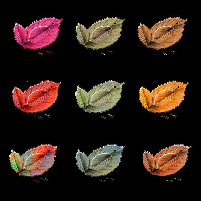 Birds, Leaves, Decorative, Autumn, Fall, Decoration