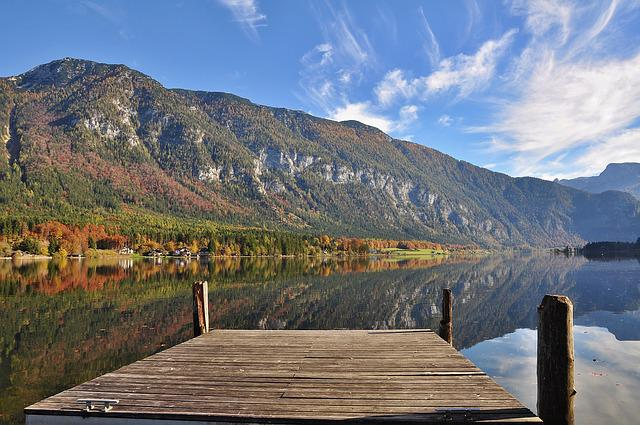 Hall ättersee, Autumn, Autumn Landscape, Fall Color