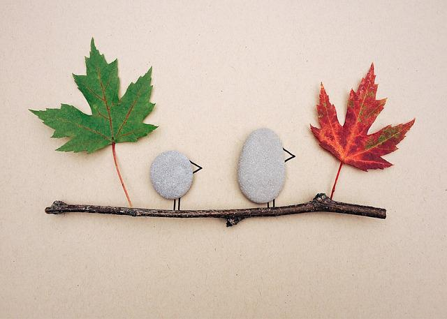 Fall, Leaves, Rock Art, Craft, Autumn