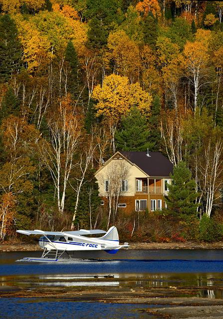 Seaplane, Autumn Landscape, Nature, Water, Lake, Fall