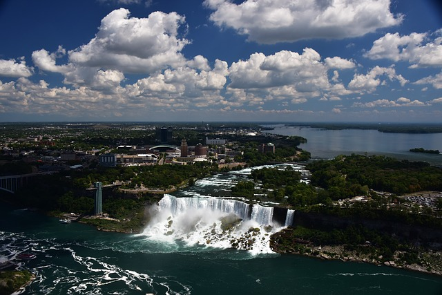 Niagara Falls, Clouds, Falls, American Beauty