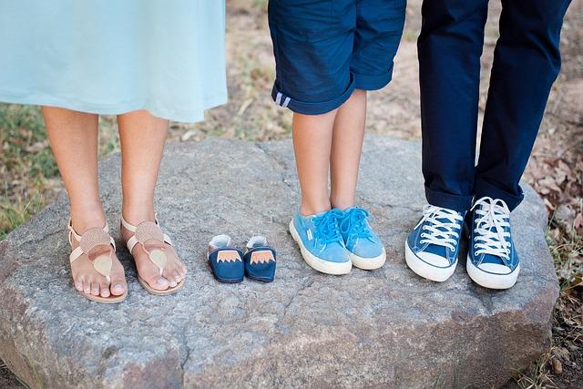 Family, Feet Closeup, Blue, Baby Boy