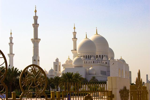Abu, Dhabi, Architecture, Mosque, Zayed, Arab, Famous