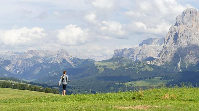 Mountains, Child, Alm, Wide, Meadow, Fantastic