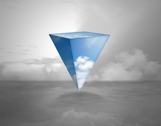 Triangle, Sky, Abstract, Wallpaper, Background, Fantasy