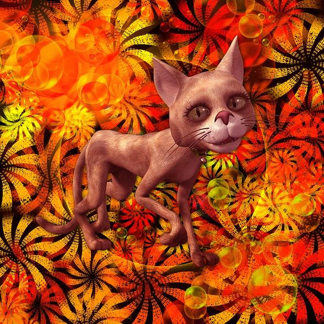 Fantasy, Cat, Cat Fantasy, Design, Animal, Cats