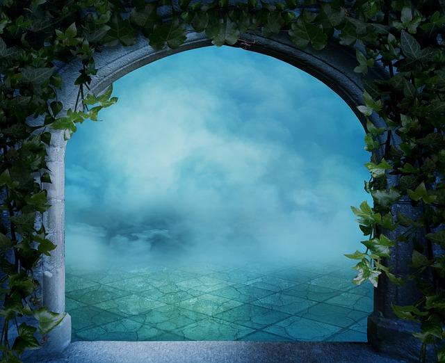 Fantasy, Background Image, Arch, Climber Plant, Gothic