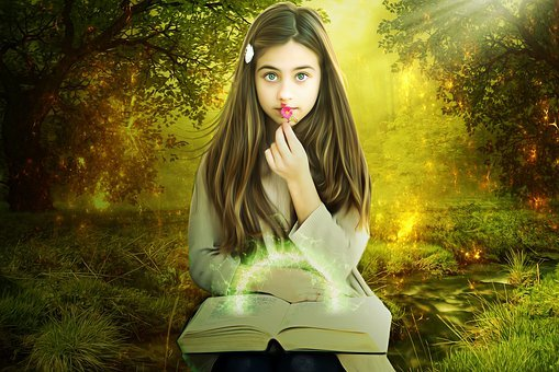 Gothic, Fantasy, Nature, Female, Beautiful, Grass, Girl