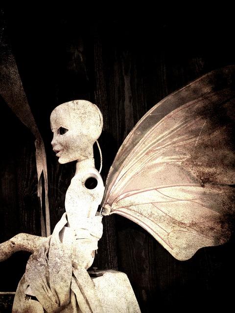Efteling, Wings, Surreal, Fantasy, Butterfly, Figurine