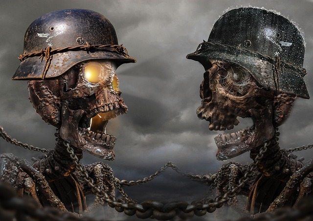 Skull, Helmet, Wartime, Fantasy, Dark, Soldier, Death